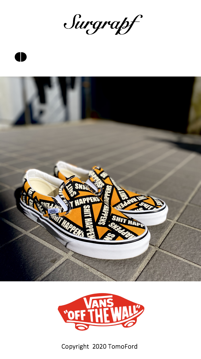 VANS OFF THE WALL SHIT HAPPENS CLASSIC SLIP ON SHOES